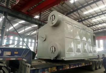 永兴锅炉出口缅甸的双锅筒燃油气锅炉正式发货起运